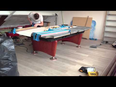 Installing A Pool Table In Minutes YouTube - Olio pool table