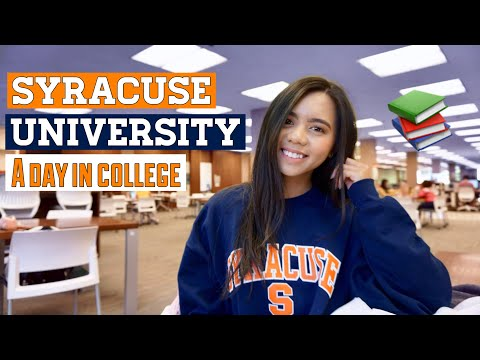 MY DAY IN COLLEGE AT SYRACUSE UNIVERSITY | a lot of complaining