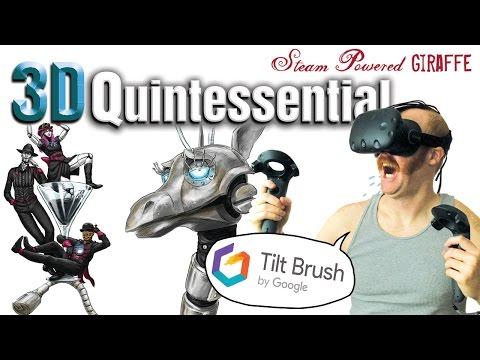 3D Quintessential Art Timelapse (HTC Vive - Tilt Brush)