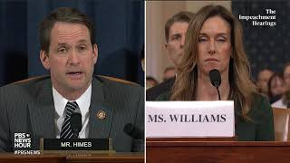 WATCH: Rep. Jim Himes full questioning of Vindman and Williams | Trump impeachment hearings