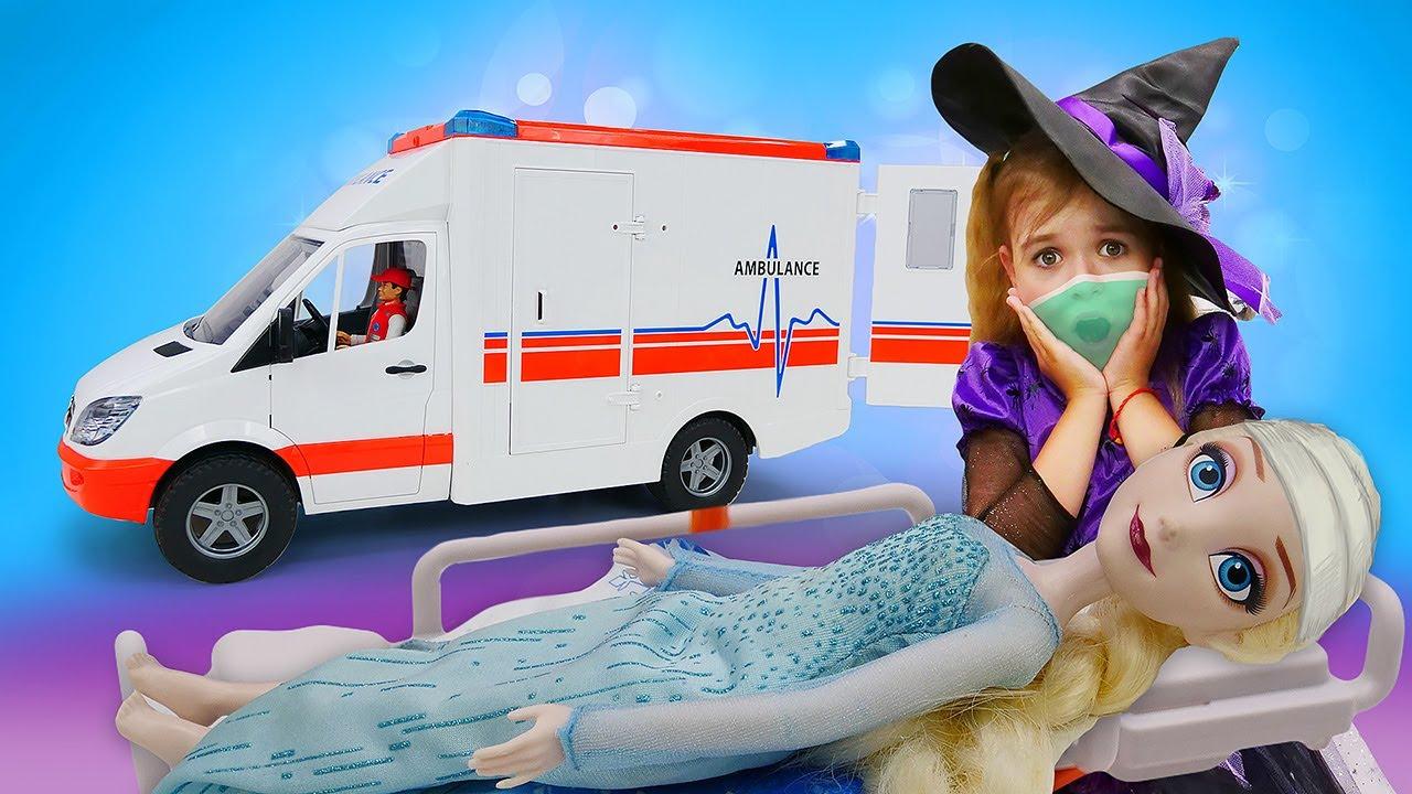 Эльза Холодное сердце и Леди Баг заболели?! Видео про куклы для девочек