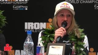 Daniela Ryf Post Race 2014 IMWC