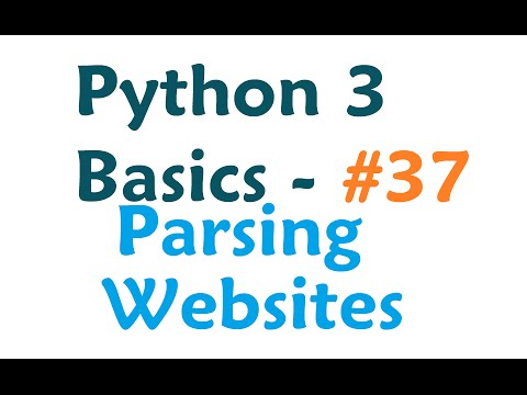 Python 3 Programming Tutorial - Parsing Websites with re and urllib