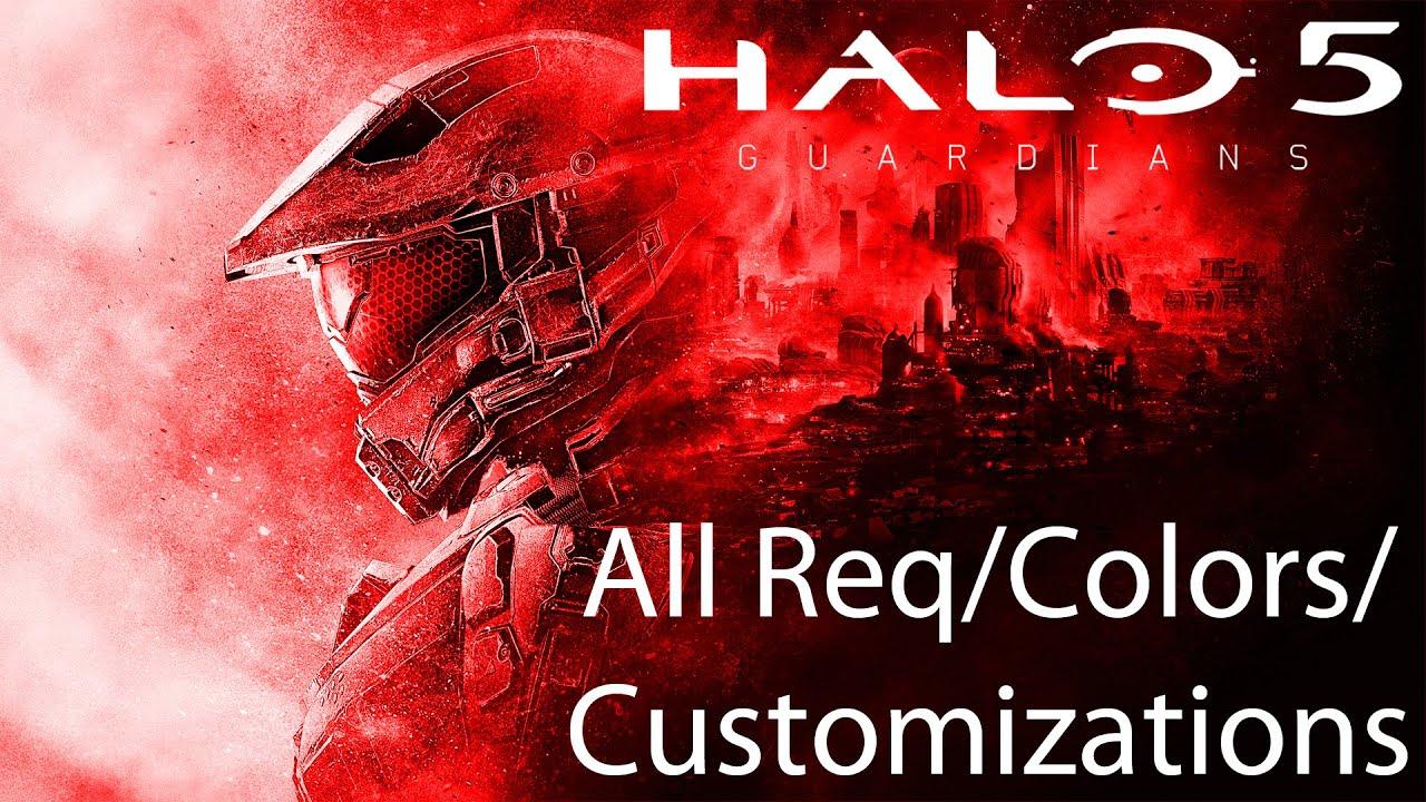 Halo 5: Guardians All Req Unlocks/Colors/Customizations/Emblems