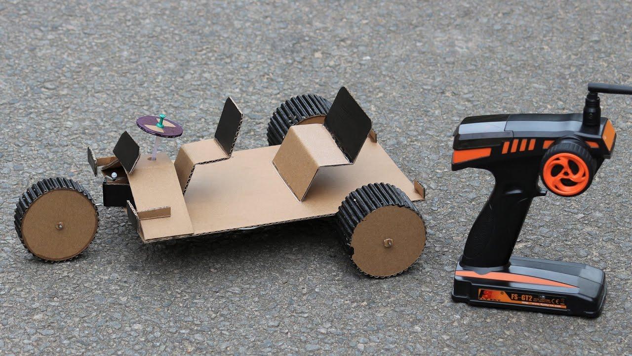 How To Make a Cardboard Car - Remote Control Cardboard Car