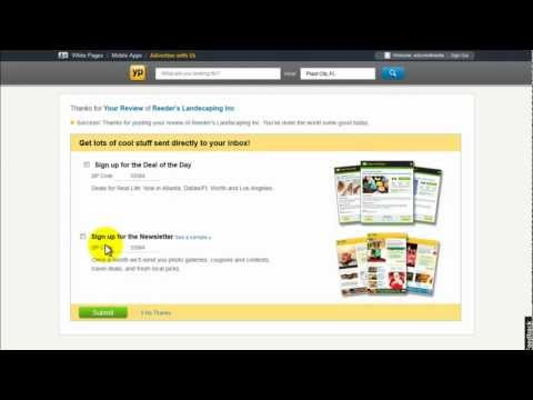 how to delete review on yellow pages