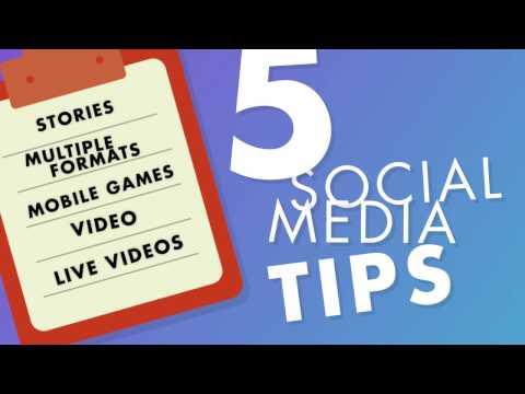 Top Social Media Marketing Tips For 2017 – Social Media Minute