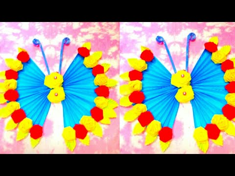 DIY Paper Butterfly Wall Hanging // Wall Decoration Idea// Paper Craft By Crafting Happiness