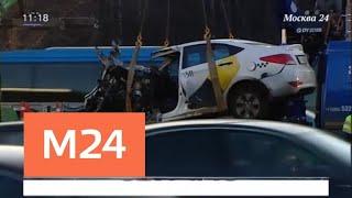 Смотреть видео Водитель Maybach не пострадал в ДТП с такси на Кутузовском проспекте - Москва 24 онлайн