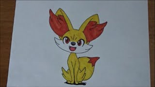 How to draw Fennekin with speed coloring