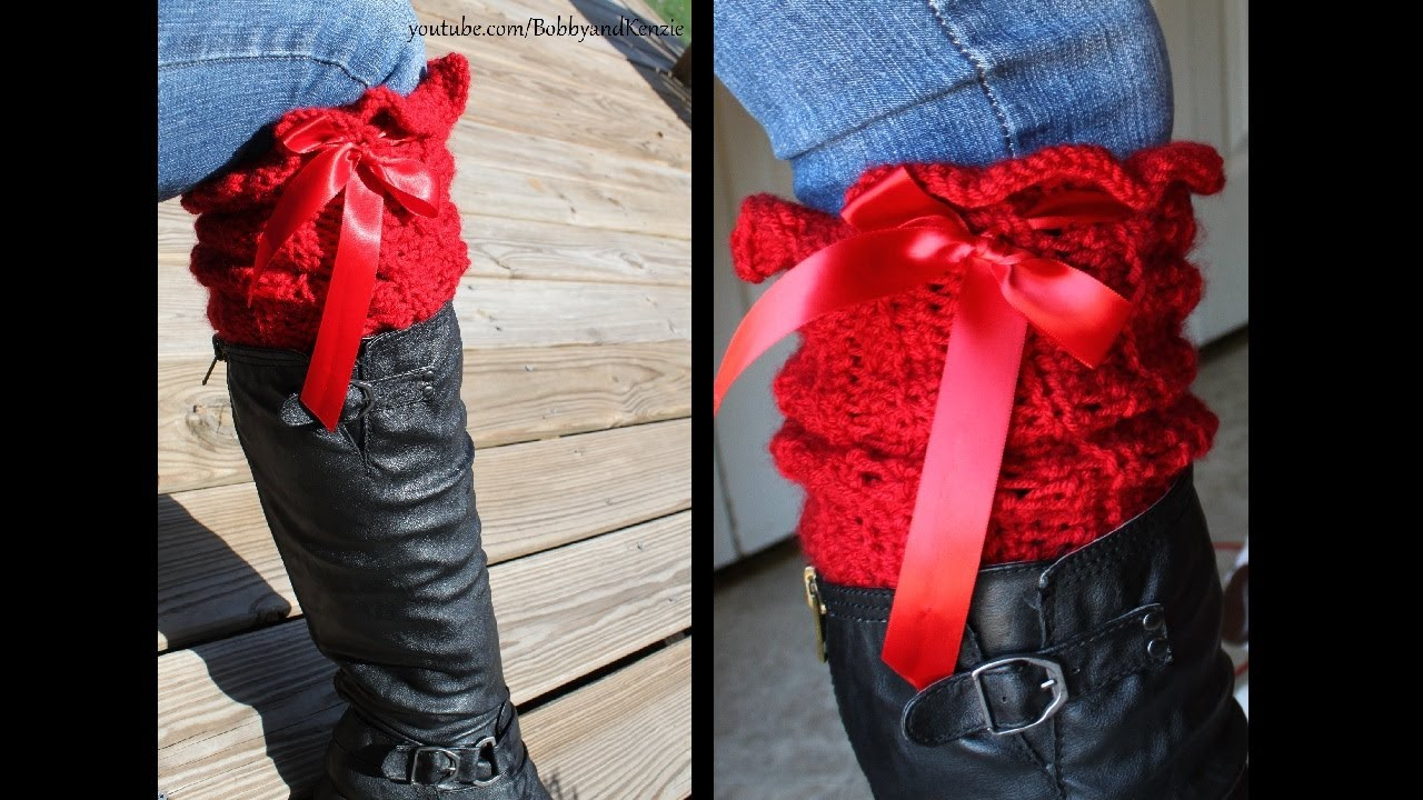 Ruffled crochet leg warmers how to veda 04 youtube bankloansurffo Image collections