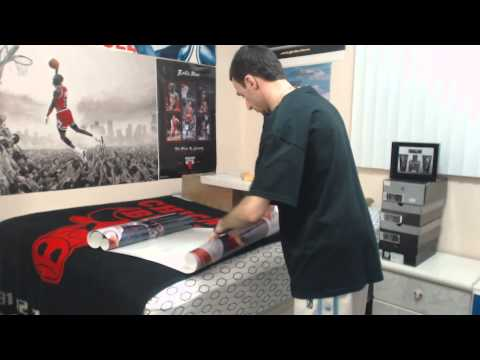 Unboxing: Rare Jordan, Pippen, & Rodman Glossy Poster: ''I Bleed Red And White'' (1080p)