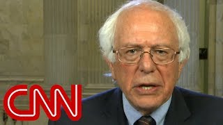Bernie Sanders reacts to Trump