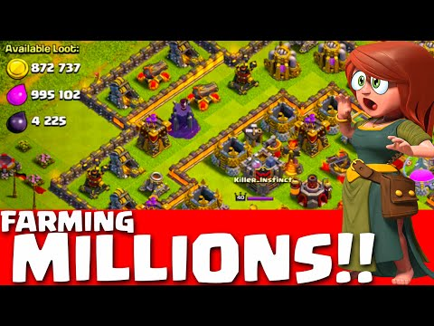 clash-of-clans---275-max-wall-farming!-champions-and-titans-farming-millions!