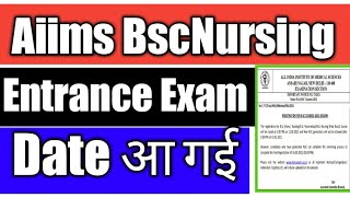 aiims bsc nursing exam date 2021 aiims bsc nursing exam date 2021 latest news aiims bsc nursing