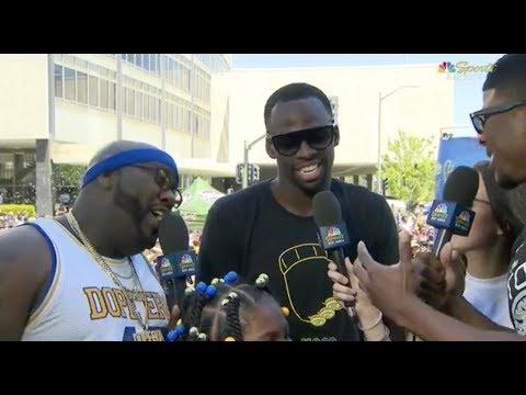 Draymond Green Trolls LeBron James With T-Shirt - 2018 Golden State Warriors Championship Parade