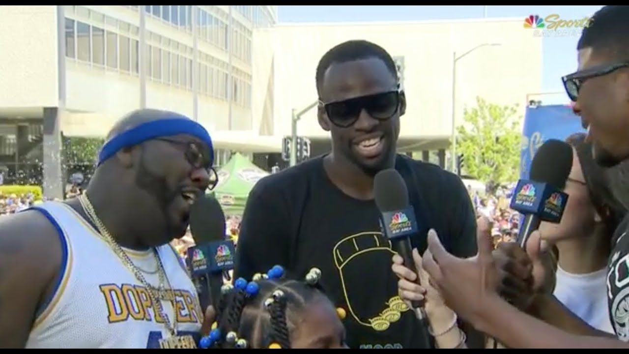 5604686a78e1 Draymond Green Trolls LeBron James with T-Shirt - 2018 Golden State  Warriors Championship Parade