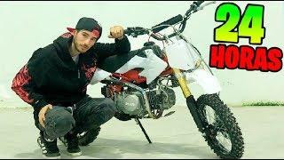 24H EN MI MOTO DE CROSS!! PATTY SE ENFADA PORQUE DUERMO CON LA MOTO XDD Makiman