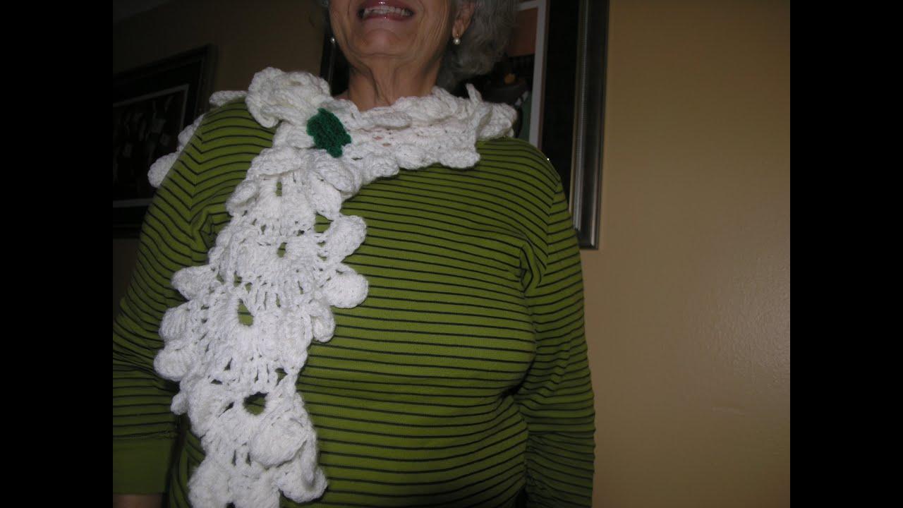 Como hacer preciosa Bufanda; estola; rebozo o chal tejido a crochet ...