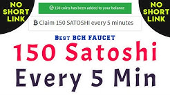 Claim 150 Satoshi (BCH) Every 5 Minutes || No Short Link || Instant Payment To FaucetPay.io