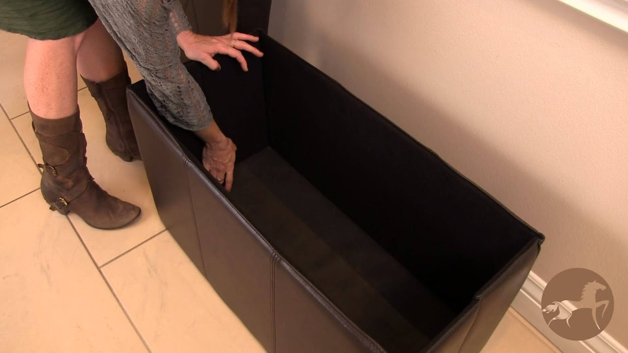 The Nottingham Foldable Storage Ottoman Bench & The Nottingham Foldable Storage Ottoman Bench - YouTube