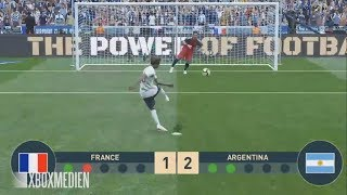 PES 2019 NEW Penalty Shootout System Gameplay France vs Argentina (Xbox One, PS4, PC)