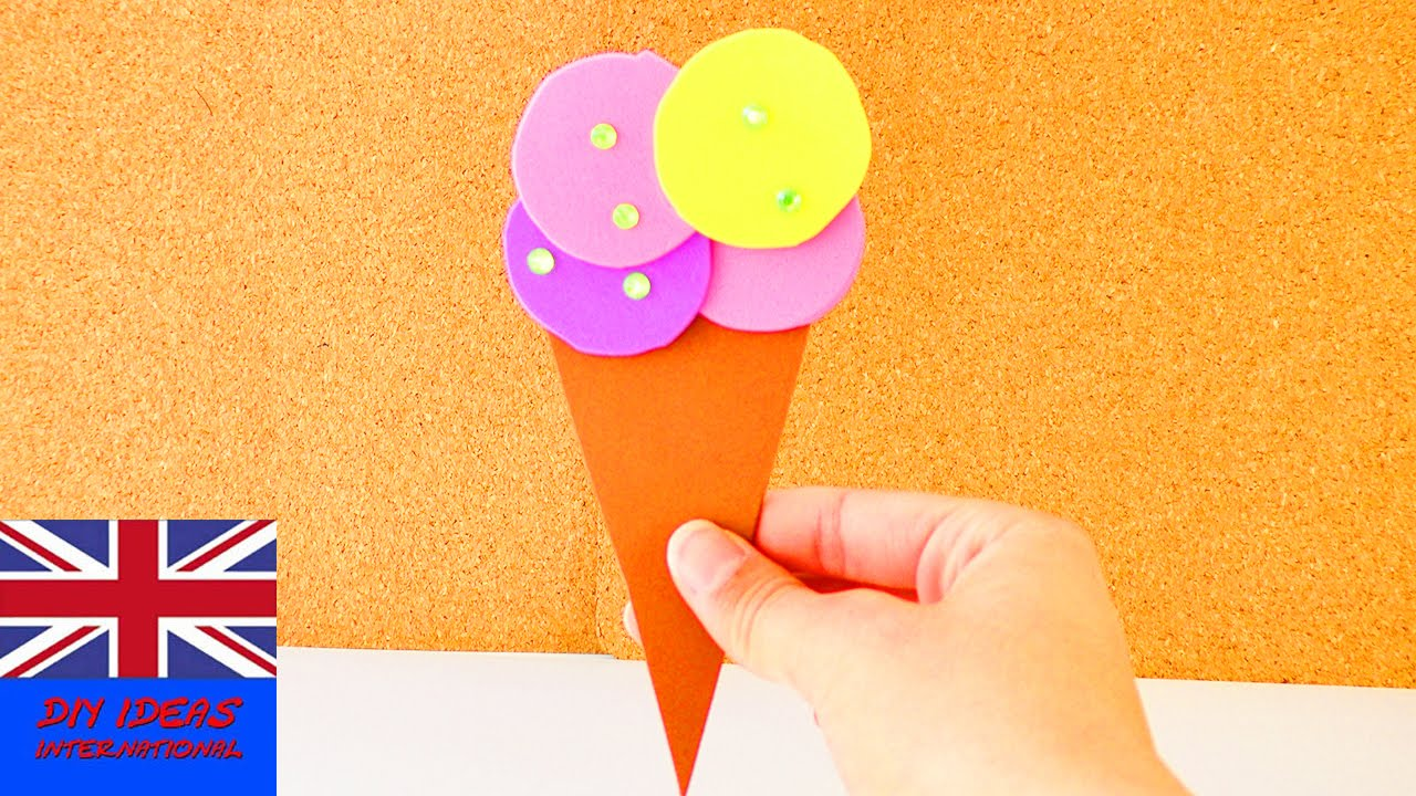 Summer decoration ice cream made out of foam sheets for Fomic sheet decoration youtube
