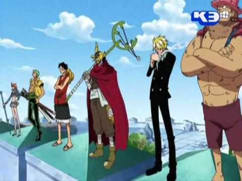straw hat pirates meet garpu