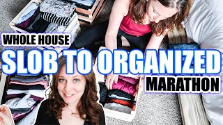 SLOB TO ORGANIZED WHOLES SERIES MARATHON | THE ULTIMATE WHOLE HOUSE CLEAN WITH ME 2021