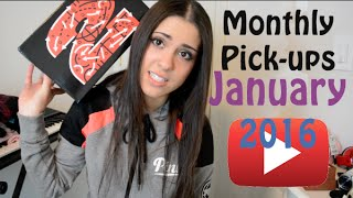 Monthly pick-ups January 2016 | Kyrie 2's | Tommy Hat | Bombers