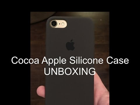 huge discount a0204 3749d iPhone 7 Cocoa Apple Silicone Case - UNBOXING
