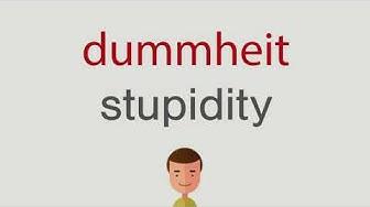 Wie heißt dummheit auf englisch