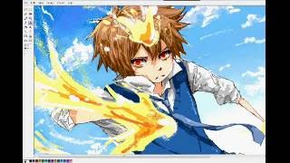 KHR :Drawing Dying Will Tsuna on MSpaint