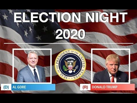 2020 Election Night   Al Gore vs Donald Trump