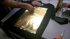 Gold Foil Print on Black Tee Using Anajet mP5i- DTG Graphic Print