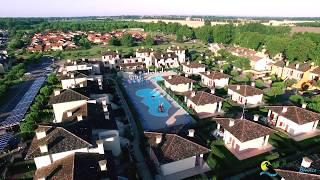 Video Drone - Airone Bianco Residence Village a Comacchio, Ferrara, in Emilia Romagna.
