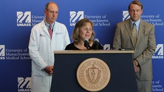 Debbie Sacra, wife of Dr. Rick Sacra, speaks on Ebola diagnosis