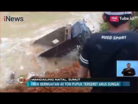 [Video Amatir] Truk Bermuatan Pupuk Masuk Jurang di Mandailing Natal - iNews Siang 11/11