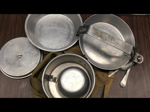 1930s To Early 1940s Wearever Boy Scout Mess Kit Review And Demo.