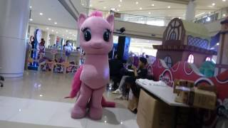 Pinkie Pie mascot dancing Smile song