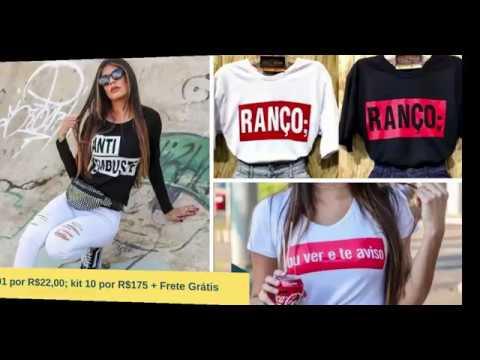 Blusas tshirts femininas frases atacado e varejo - YouTube f86c166d5dc