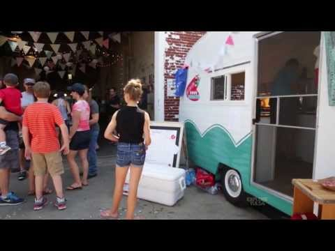Lick Your Lips Mini-Donuts, a tasty treat from a retro trailer