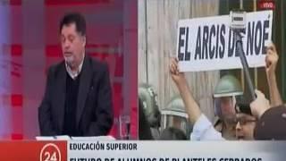 Entrevista presidente del Consejo Nacional de Educación, Pedro Montt.