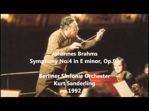 Johannes Brahms: Symphony No.4 in E minor - Kurt Sanderling (Audio video)