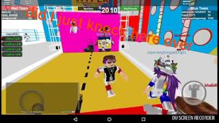 Playing hole in the wall and epic mini games ROBLOX