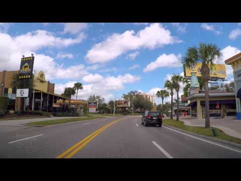 Driving down International Drive in Orlando Florida to the Universal Orlando Resort 2015