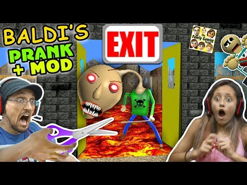 BALDI'S BASICS NO EXIT ESCAPE + PRANK & MOD! FGTEEV RAGE Teacher Ending! (Education & Learning #2)