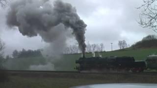 Dampflok Gerolstein Ulmen Steamtrain chasing.