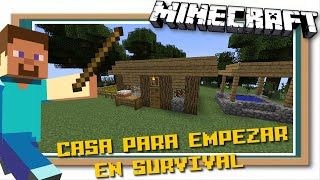 Minecraft Casa Fácil y Bonita para empezar en Survival