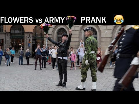 Flowers VS ARMY PRANK -Julien Magic